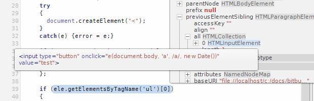 工具提示显示函数求值结果